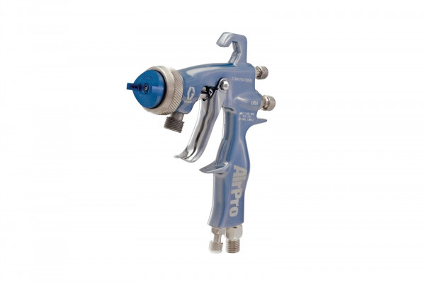 AirPro Air Spray Pressure Feed Gun, Conventional, 0.055 inch (1.4 mm) Nozzle, SST Tip, for General Metal Applications 24U188