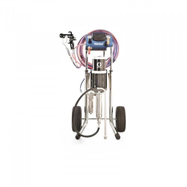 10:1 Merkur AA Pkg, 1.2 gpm (4.5 lpm) fluid flow, Cart Mt, G15 Gun, Pump Air Controls, Gun Air/Fluid Hose, DataTrak G10C08