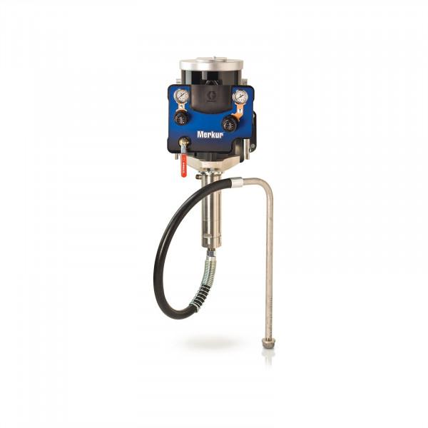 15:1 Merkur AA Pkg, 0.8 gpm (3 lpm) fluid flow, Wall Mt, G15 Gun, Pump Air Controls, Gun Air/Fluid Hose, Fluid Filter, DataTrak G15W28