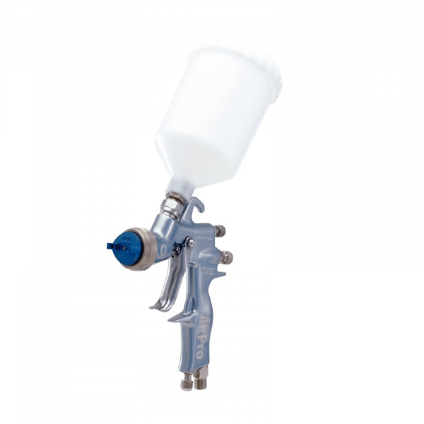 AirPro Air Spray Gravity Feed Gun, Conventional, 0.070 inch (1.8 mm) Nozzle, Plastic Gravity Cup 289012