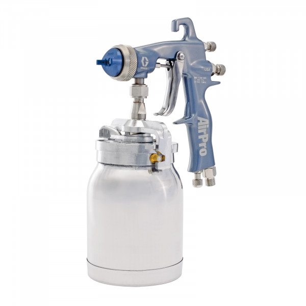 AirPro Air Spray Siphon Feed Gun, HVLP, 0.070 inch (1.8 mm) Nozzle, without Siphon Cup 289994