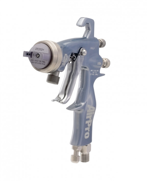 AirPro Air Spray Pressure Feed Gun, HVLP, 0.020 inch (0.5 mm) Nozzle, for General Metal Applications 288935
