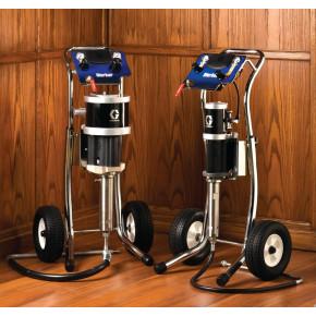 10:1 Merkur Pump, 1.2 gpm (4.5 lpm) fluid flow, Cart Mt, Pump Air Controls, Air Hose, Suction Hose G10C05