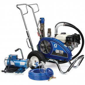GH 230 Convertible Standard Series Gas Hydraulic Airless Sprayer with Electric Motor Kit 24W930