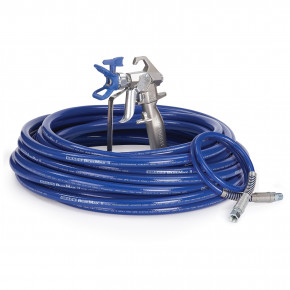 Contractor Airless Spray Gun, RAC X, BlueMax II Airless Hose, 3/8 in x 50 ft, 3 ft Whip Hose 288490