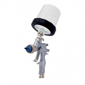 AirPro Air Spray Gravity Feed Gun, Compliant, 0.055 inch (1.4 mm) Nozzle, 3M PPS Cup 289026