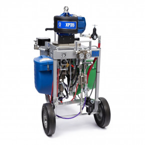 XP35 Hazardous Location Spray Package, Cart, 1:1 Mix Ratio, Hopper, Solvent Pump, Heaters, XTR Gun, 240V 281104