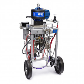 XP35 Hazardous Location Spray Package, Cart, 1:1 Mix Ratio, Solvent Pump, Heaters, XTR Gun, 240V 281103