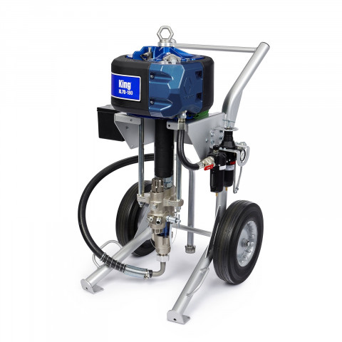 60:1 Ratio Airless King Sprayer with Standard Filter, Heavy Duty Cart, Air Controls, Siphon Kit, Hose, Gun K60FH1